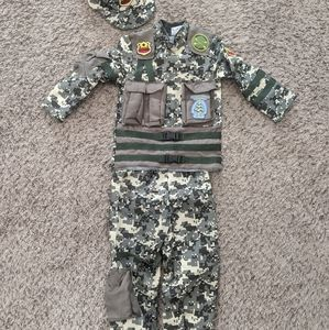 Military Army Costume Boy 3T 4T